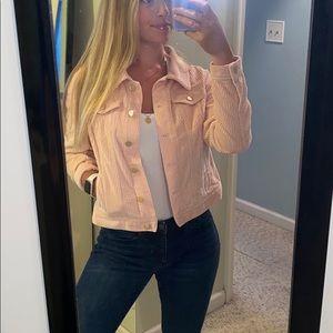 Light Pink Corduroy Loft Jacket